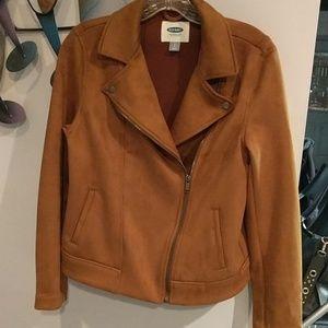 Old Navy Moto jacket, sz S, cinnamon cider color